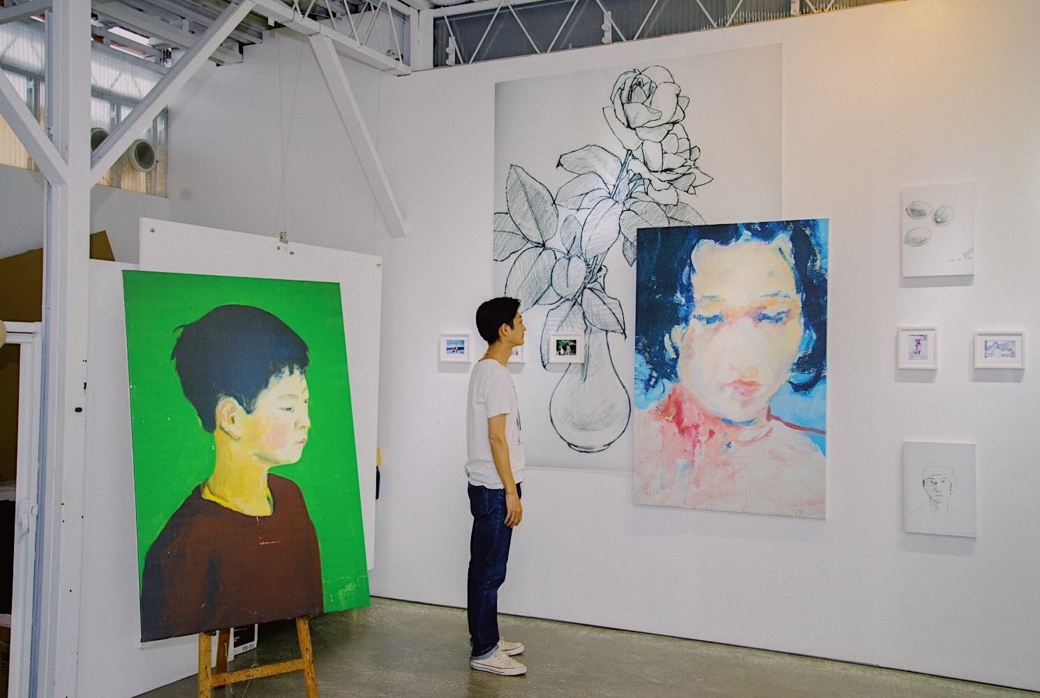 私が東京で開催した作品展の風景