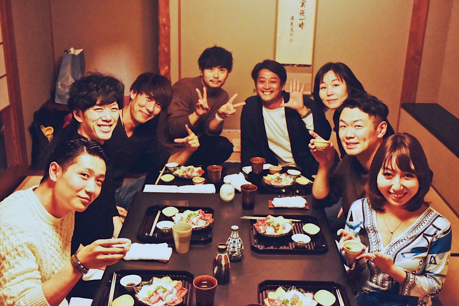 合宿で勉強会 &大人の修学旅行!高級料亭で夕食。みんなで記念写真